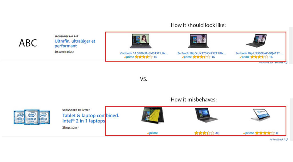 Image of New look for Headline Search Ads on AMS how it misbehaves
