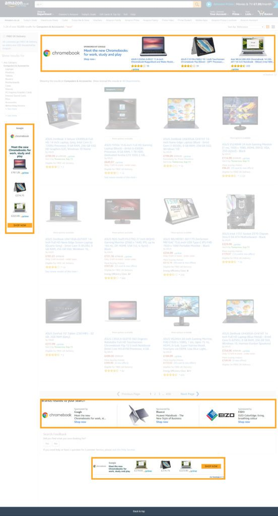 Image of New placements of sponsored brands - previously headline search AMS Amazon advertising