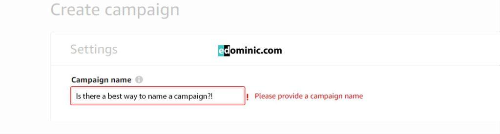 Image of Campaign names in Amazon Advertising AmazonPPC