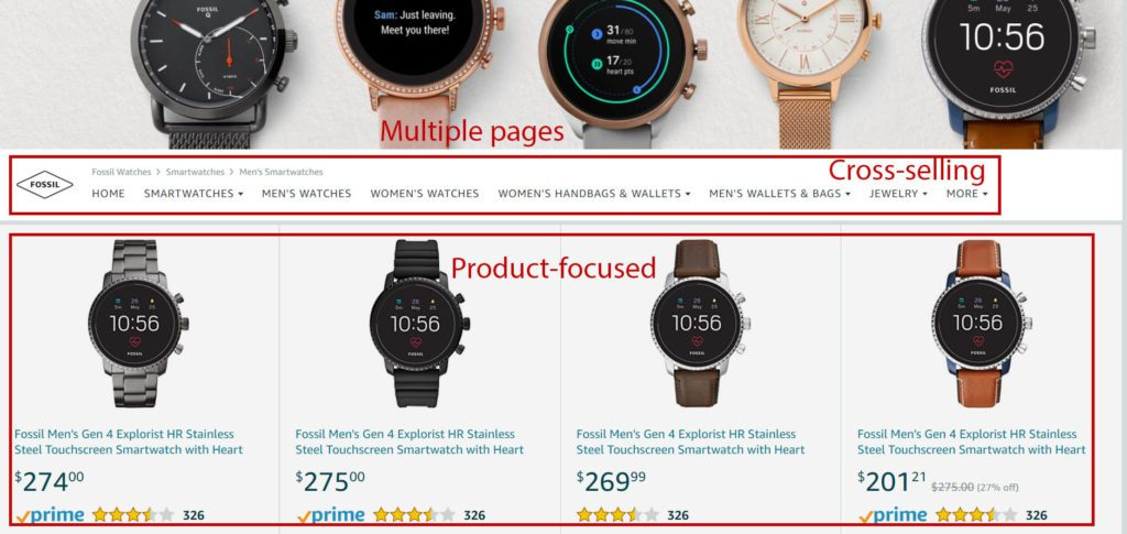 Image of a Good example of Amazon Store AmazonPPC